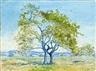 Johannes Itten, Landschaft mit Baum
