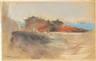 Max Liebermann, Blick über Dächer an einem norditalienischen See