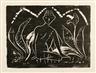 Otto Mueller, Knabe zwischen Blattpflanzen (Knabe im Schilf)