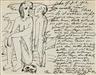 Max Pechstein, Eigenhändiger Brief mit Zeichnung