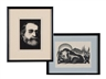 Paul Landacre, 2 Works: Giuseppe Verdi & A wild boar