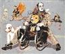 Peter Sengl, Susanne und Deborah Kinderzimmer=Doppelakrobatik (Vogelmaske)