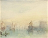 Joseph Mallord William Turner, Venice: The New Moon – The Dogana from the steps of The Hotel Europa