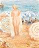 Henri Lebasque, Baigneuse sur la plage de cannes