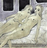 Paul Delvaux, Two reclining nudes