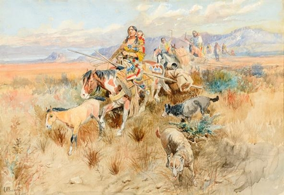 Charles Marion Russell, In the Wake of a Cree Hunting Party