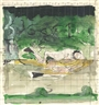 Graham Sutherland, The Swimmer (study)