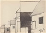 Keith Vaughan, Row of Houses; Street Scene; Study for Lane in Shere; A field