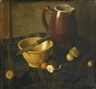 Continental School, 19th Century, A still life with garlic