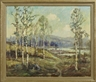 Knute Heldner, Lake Scene with Birches in Spring