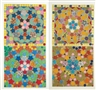 Joyce Kozloff, Studies for Tile Multiple I,II,III and IV : Four