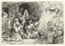 Rembrandt, The Angel Departing from the Family of Tobias; Abraham's Sacrifice(reprint)