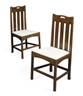 Charles Rennie Mackintosh, PAIR OF OAK SIDE CHAIRS