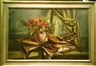 Frederic Taubes, Still life with flowers and musical instruments