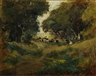 William Keith, Cows grazing along a wooded path