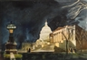 Millard Sheets, The Capitol Building at night, Washington, D.C.