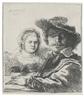 Rembrandt, SELF-PORTRAIT WITH SASKIA (BARTSCH, HOLLSTEIN 19; NEW HOLLSTEIN 158; HIND 144)
