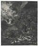 Rembrandt, THE ANGEL APPEARING TO THE SHEPHERDS (B., HOLL. 44; NEW HOLL. 125; H. 120)