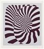 Victor Vasarely, Zebra Couple (Silver, Orange, Blue)