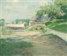 Guy Rose, Boathouse, likely Wickford, R.I.