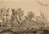 James Ensor, Coup de vent à la lisière 1888