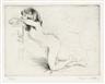 Jacques Villon, 2 works; Minne étendue dans un Rocking-Chair (Variante I)