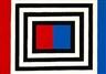 Albert Mertz, Frame in front of red/blue