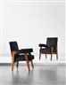 Pierre Jeanneret, Le Corbusier, Pair of 'Advocate and Press' armchairs, model no. LC/PJ-SI-41-A, designed for the High Court, Chandigarh