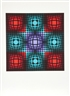 Victor Vasarely, Dyevat (Red and Blues)