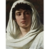 Elihu Vedder, Woman Draped in White