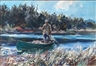 John Whorf, Man standing in canoe