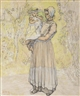 Jan Toorop, Woman with child in local Dutch attire, Zeeland