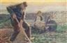 Jan Toorop, Machelen, un jardinier plantant ses choux