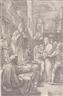 Hendrick Goltzius, Christ before vor Caiphas
