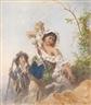 Anton Romako, Italian shepherd family