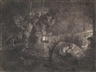 Rembrandt, The Adoration of the Shepherds at lantern light