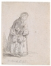 Rembrandt, A beggar woman leaning on a walking stick