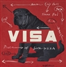Wang Guangyi, VISA ON RED BACKGROUND NO. 4