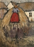 Grace Henry, WOMAN TENDING A HAYSTACK
