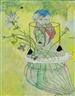 Peter Sengl, Blumenvase mit Huthaubenstock für Mosesartigen Hut