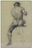 David Wu Ject-Key, Seated Male Nude