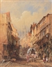 Edward Martindale Richardson, Street scene looking towards the cathedral church of St Nicholas
