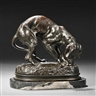 Alexander Phimister Proctor, Bronze Figure of a Dog with a Bone