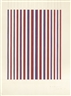 Bridget Riley, RED AND BLUE, EXPANDED