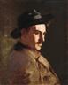 László Mednyánszky, Portrait of a man