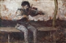 László Mednyánszky, Boy with a violin