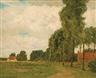 Charles Warren Eaton, Poplars, Bruges