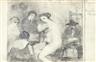 Paul Delvaux, L'atelier (Esquisse 1ère idée)