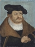 Lucas Cranach the Elder, Portrait of Frederick III (1463-1525), the Wise, Elector of Saxony, bust-length, in a white shirt, a fur-lined coat and a black hat