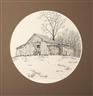 Darell Koons, A Rural Barn & Wagon